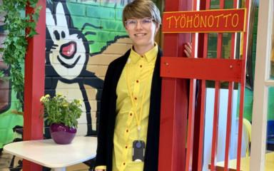 HR-harjoittelija Aino yhdistää sujuvasti opinnot ja työskentelyn SOLilla